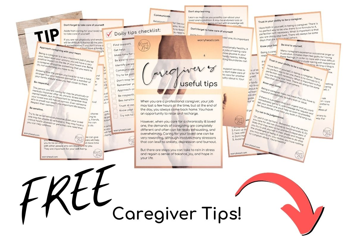 FREE Caregiver Tips popup